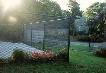 Chain Link Tennis Court